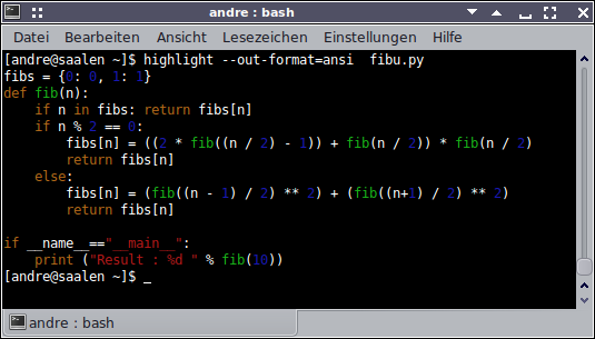 Terminal ANSI Escape sequences